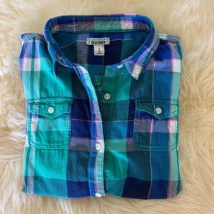 Old Navy Flannel Button-Down Shirt L
